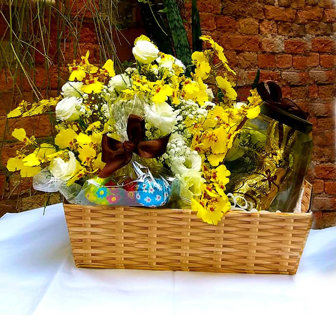 cesta de páscoa presente