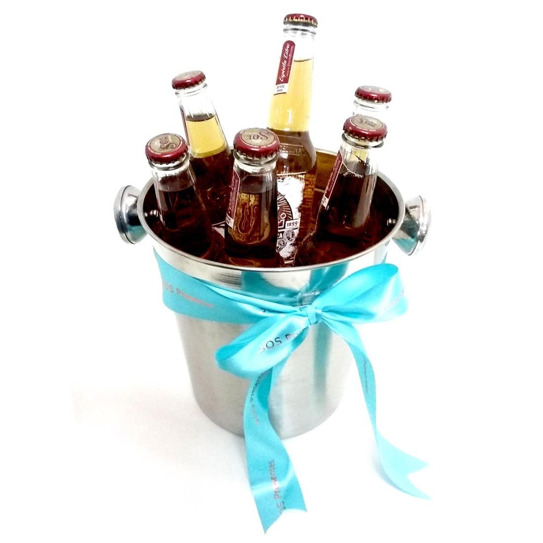 68d3b96ea16089 Balde com 6 Cervejas Mexicanas Sol Premium