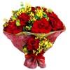 buque com 12 rosas colombianas vermelhas