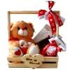 cesta com urso de pelúcia para presente