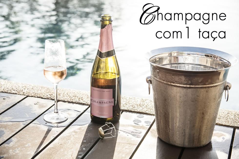 champagne com 1 taça de presente significados