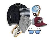 moda juvenil masculina para presente com entrega rapida